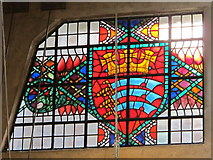 TQ0584 : Uxbridge tube station - stained glass window (3) by Mike Quinn