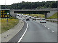 SK6478 : Southbound A1, Overbridge at Apleyhead Interchange by David Dixon