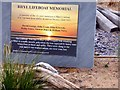SJ0081 : The plaque on the Rhyl Lifeboat Memorial by Gerald England