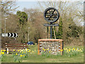 TF7413 : Narborough Village Sign by Adrian S Pye