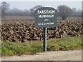 TM1657 : Paris Farm sign by Adrian Cable