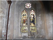 SU3981 : St Mary, Fawley: stained glass window (i) by Basher Eyre