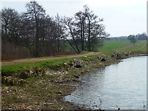 TF0322 : Red Bridge and the upper lake near Grimsthorpe Castle by Richard Humphrey