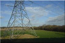 SK1409 : Pylon by Fulfen Wood by N Chadwick