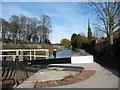 SO8304 : Pound between locks 2 and 1, Stroudwater Navigation by Christine Johnstone