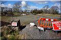 SO5696 : Carpark at the Wenlock Edge Inn by Ian S