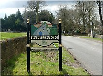 SK5451 : Papplewick village sign by Graham Hogg