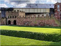 SJ8397 : North Gate Rampart and Wall, Castlefield by David Dixon