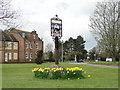 TL7663 : Barrow village sign by Adrian S Pye