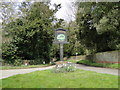 TL8661 : Nowton village sign by Adrian S Pye