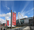 TQ1985 : Walkway to Wembley Stadium by Des Blenkinsopp