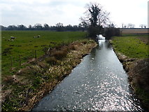 TL0393 : Willow Brook in Woodnewton by Mat Fascione