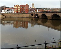 SO8454 : Riverside view, Worcester by Jaggery
