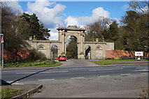 SJ5409 : Entrance gates at Attingham House by Ian S