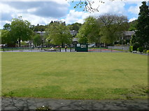 SH5638 : Small park in the centre of Porthmadog by Eirian Evans