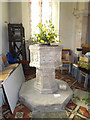 TM1354 : St.Mary's Church Font by Adrian Cable