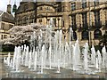 SK3587 : Dancing fountain in the Peace Gardens by Graham Hogg