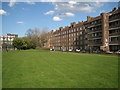TQ3378 : Three blocks of the Kinglake Estate fronting Surrey Square Park, Walworth by Robin Stott