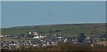 SS4937 : A view across east Braunton towards the Artavia TV mast by Roger A Smith