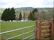 SS8404 : Footpath gate and lake near Bremridge Farm by David Smith