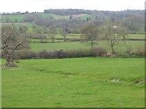 SS8402 : Stream crossing field north of Merrifield Farm by David Smith