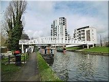 TQ1883 : Alperton, footbridge by Mike Faherty