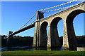 SH5571 : Menai Suspension Bridge by Oliver Mills