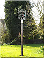 TM0758 : Creeting St.Peter Village sign by Adrian Cable