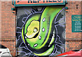 J3373 : Decorated shutter door, Hope Street, Belfast (April 2016) by Albert Bridge