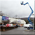 ST2995 : Extended Genie platform lift in Cwmbran Retail Park by Jaggery