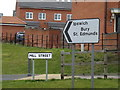 TM0658 : Mill Street sign & roadsign on Mill Street by Adrian Cable