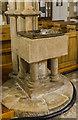 TF0471 : Font, St Clement's church, Fiskerton by Julian P Guffogg