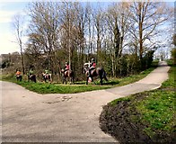 SJ9594 : Horse riders at Swains Valley by Gerald England