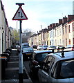 ST3088 : Warning sign - two way traffic, Bailey Street, Newport by Jaggery