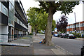 TQ3277 : Maisonettes opposite flat-roofed two-storey houses, Lomond Grove, Camberwell by Robin Stott