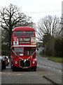 TM0760 : Routemaster Bus off the A1120 Church Road by Adrian Cable