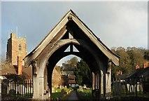 SS9843 : Lych gate, Dunster by Derek Harper
