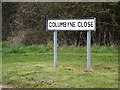 TM0660 : Columbyne Close sign by Adrian Cable