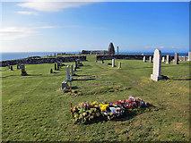 NG2261 : Trumpan cemetery by Richard Dorrell