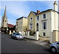 SO9221 : Church Road houses and a distant spire, Cheltenham by Jaggery