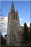 SK8608 : Tower and spire of All Saints Church by Roger Templeman
