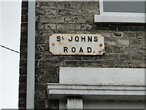 TM3389 : St Johns Road, Bungay; Peace Year commemoration street sign by Adrian S Pye