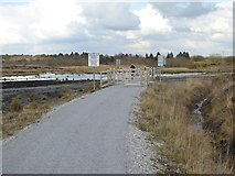 N1622 : Level crossing in the Lough Boora Discovery Park by Oliver Dixon