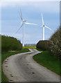 TA2137 : Lane to the turbines, near Fosham by Paul Harrop