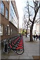 TQ3182 : Cycle hire on Clerkenwell Road by DS Pugh