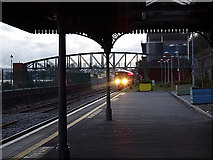 W7966 : A train from Cork arriving at Cobh Station by John Lucas