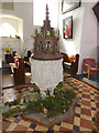 TM1453 : St.Gregory's Church Font by Adrian Cable