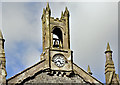 J5078 : Bell tower and clock, Conlig Presbyterian church (April 2016) by Albert Bridge