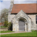 SE5548 : Door of St Nicholas, Askham Bryan by Rich Tea