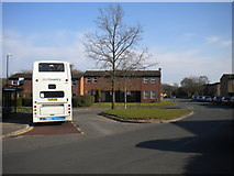 SP2778 : Bus turning circle, Tanyard Farm estate by Richard Vince